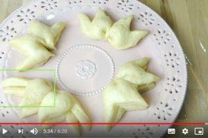 莲花造型馒头 家庭简单做法(视频)