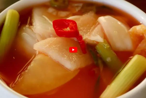 韩国水泡菜 清脆爽口 很下饭(视频)