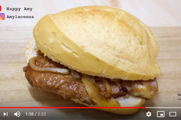 豬扒包 家庭簡單做法(視頻)