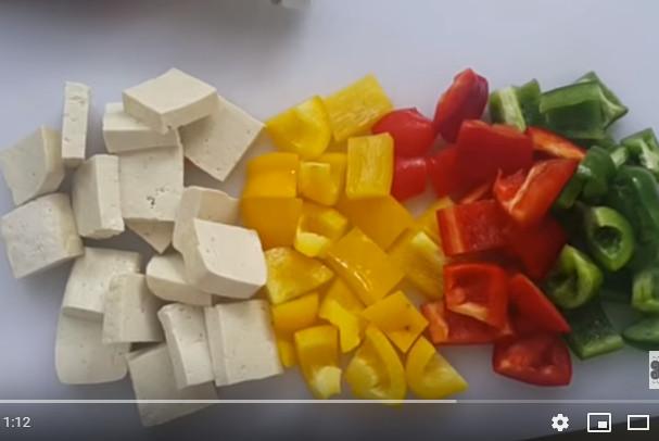 超美味素食 番茄酱豆腐彩椒(視頻)
