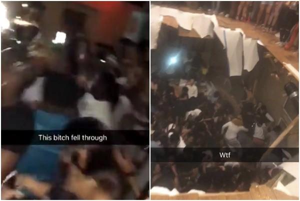 美大学生派对嗨翻 下一秒踩破地板酿30伤(视频)