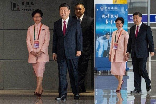 林郑与习近平并肩同行  韩正反随其后透玄机