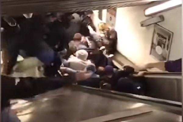 罗马地铁电扶梯崩塌 乘客堆叠酿逾20人伤(视频)