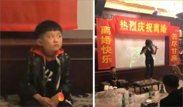 女子高歌慶離婚 兒子憂鬱懟白眼(視頻)