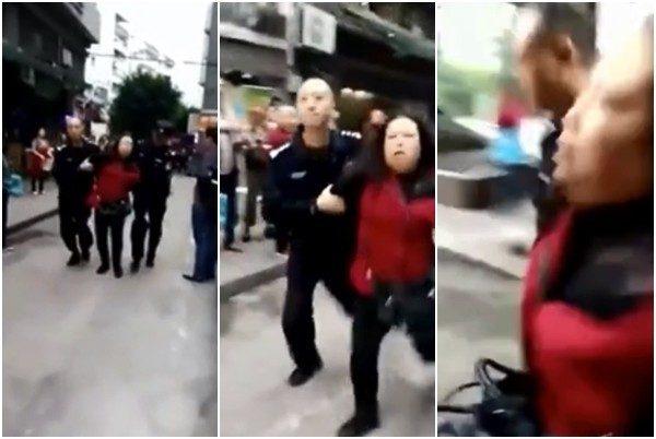 重慶女持刀砍殺14幼童  被抓獲時遭圍毆(視頻)