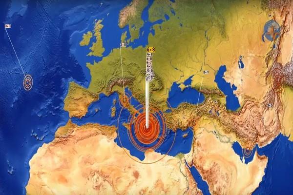 希腊6.8浅层强震 7国长达800公里一起摇晃