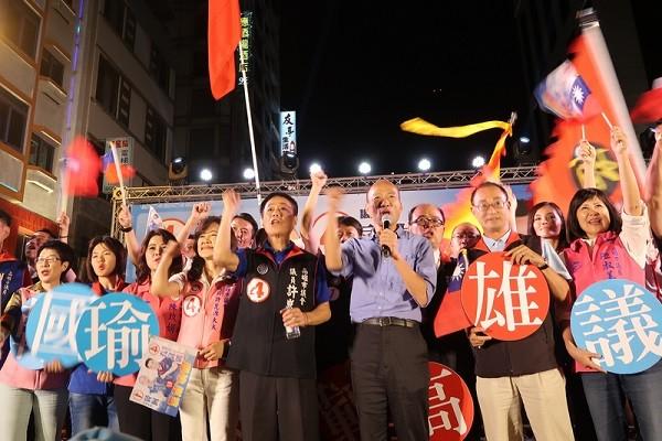 國民黨四大咖站台 韓國瑜喊拿下高雄府會