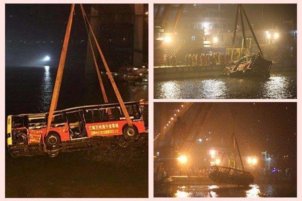重慶墜江公交打撈出水 官方未通報確切死亡人數(視頻)