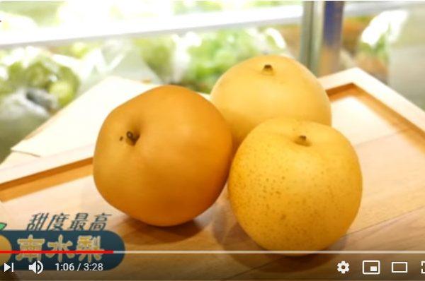 秋天必食3大日本梨 这种最甜(视频)
