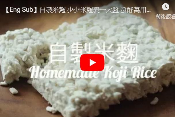 自製米麴 發酵萬用調味料(視頻)