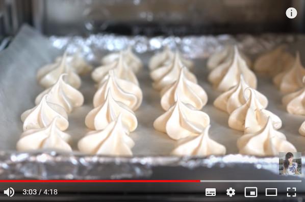 马林糖脆饼 瑞士蛋白霜做法 入口即化(视频)