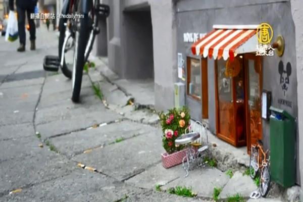 街道墙壁出现精灵小屋 瑞典艺团向传说致敬