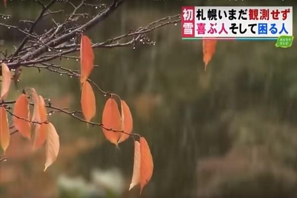 北海道札幌今晨終下雪了 平128年來紀錄