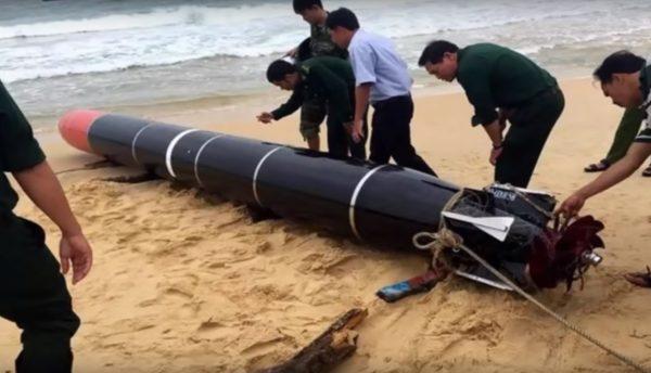 中共山寨版魚雷訓練丟失 被越南漁民尋獲