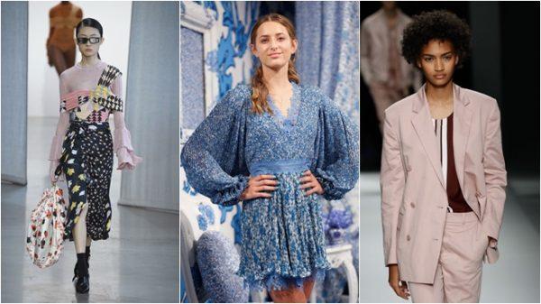 淺藍色、撞色印花 2019春季女裝新潮流