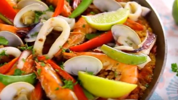 西班牙海鮮飯 簡單幾個步驟就完成(視頻)