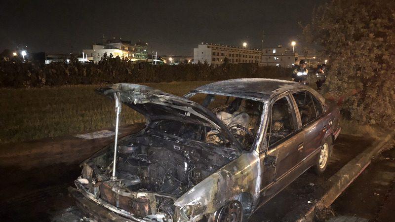 中市驚現火燒車 車內發現1男1女焦屍