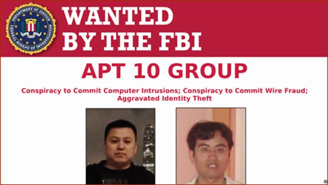 兩中共黑客犯案細節曝光 最高面臨美國27年刑期