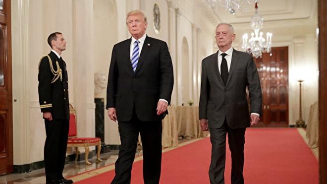 川普宣布防长明年2月退休 马蒂斯吁防中俄野心