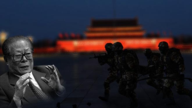 遭3千人围堵 江泽民与情妇撞破头血流满面溜走