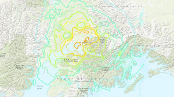 阿拉斯加突發7級地震 部分地區發海嘯預警