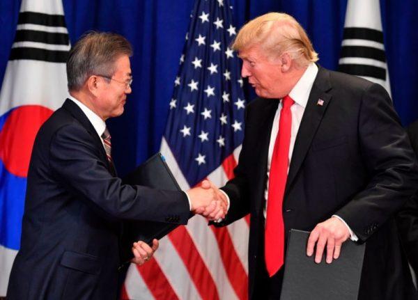 """G20场边会晤 川普文在寅重申2次""""川金会"""""""