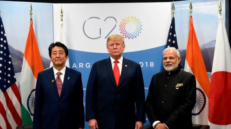 印美日后印俄中 莫迪G20左右逢源推文表差别
