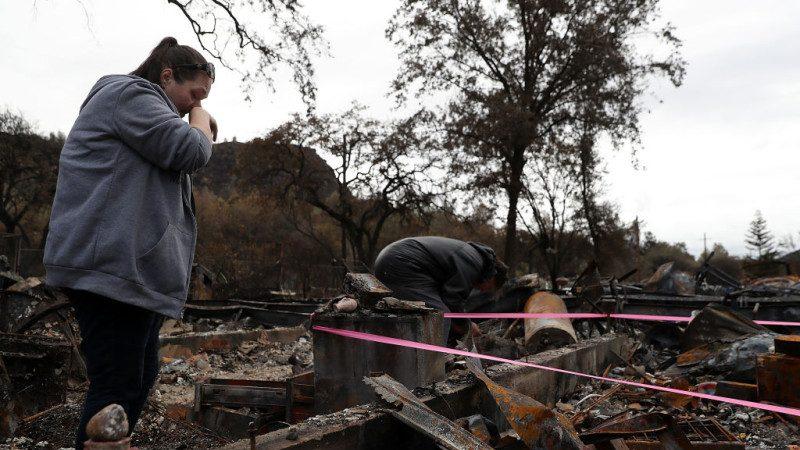 美加州致命野火 失蹤人口從1200人降至25人