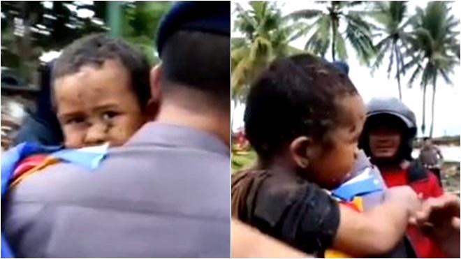 印尼海啸373亡 5岁男童受困车内12小时幸运生还