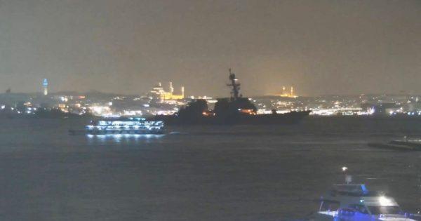 美海军神盾驱逐舰再驶入黑海 俄军全程监察