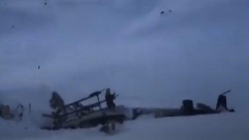 阿尔卑斯山空难 直升机轻型飞机相撞7死2重伤