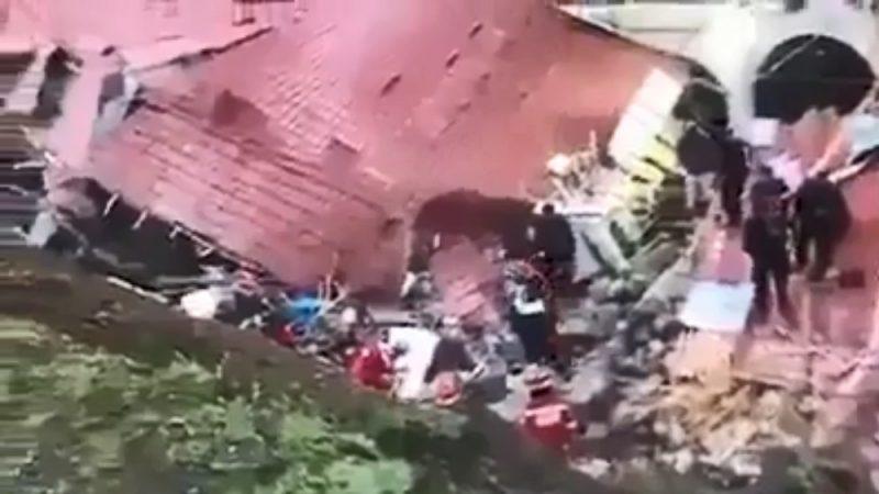 秘鲁土石流冲垮墙壁 袭婚礼庆宴至少15死34伤