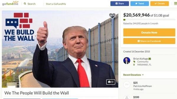 支持川普 美國大兵籌款欲親自建牆