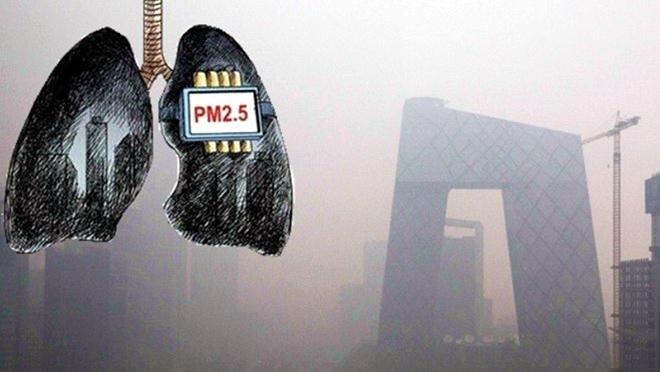 """研究:阴霾让中国人减寿3年 6天肺即变""""黑"""""""