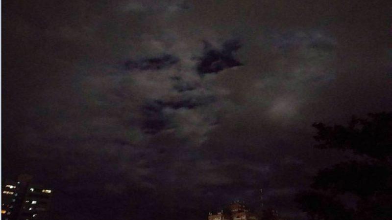 夜空現人臉?台東氣象站:雲層水氣變化
