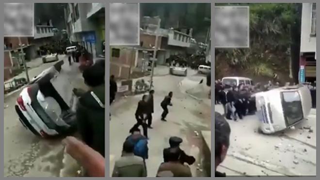 贵州强制火葬惹民愤 少数民族百民怒砸警车