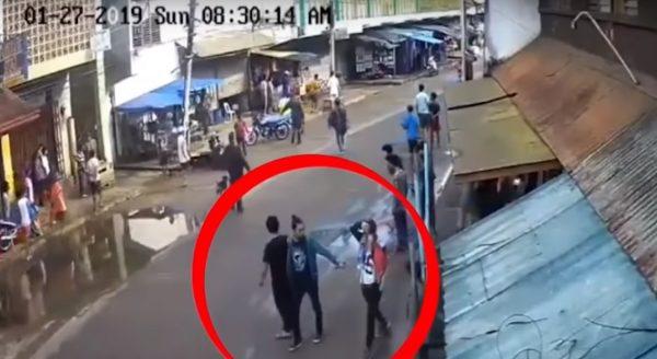 菲南教堂爆炸案 軍方影片:疑綠衣男按下引爆裝置