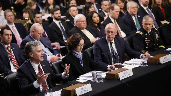 美6大情报机构参院听证 FBI在查谍案几全涉中共