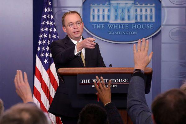 代理白宮幕僚長:民主黨糾纏字眼 故意拖延政府開門