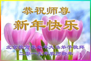 教育系统法轮功学员恭祝李洪志大师新年好