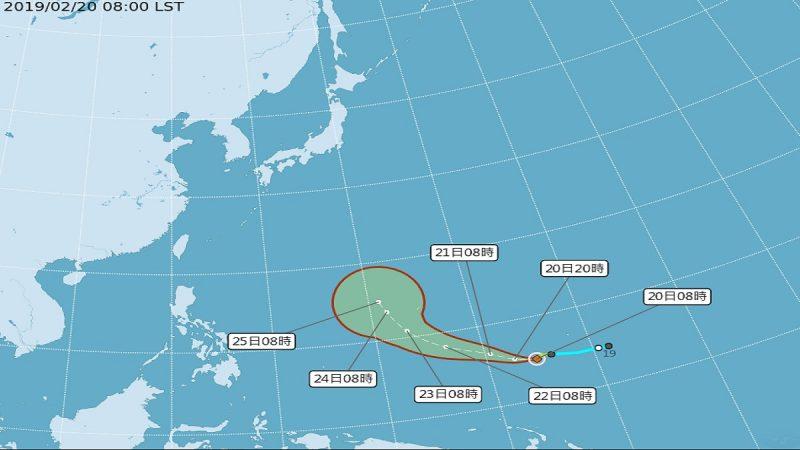 台风蝴蝶形成 周六低温下探12度