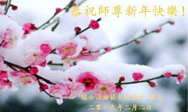 海外50多个国家和地区法轮功学员恭祝李洪志大师新年快乐