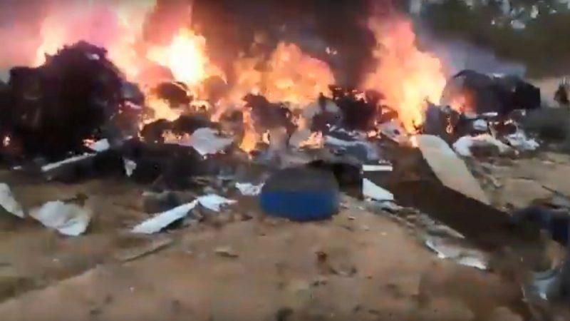 哥倫比亞雙槳飛機墜毀爆炸 12人罹難