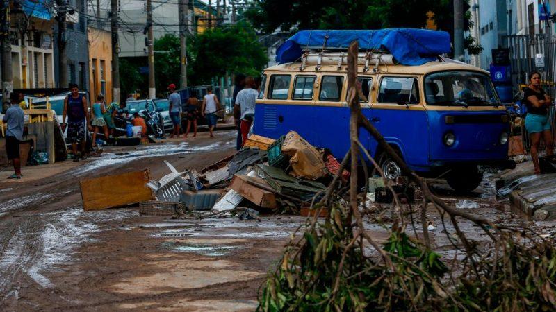巴西聖保羅遭暴雨襲擊 河流氾濫災情頻傳至少12死