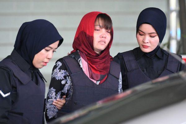 金正男谋杀案检方拒撤指控 段氏香泪洒法庭