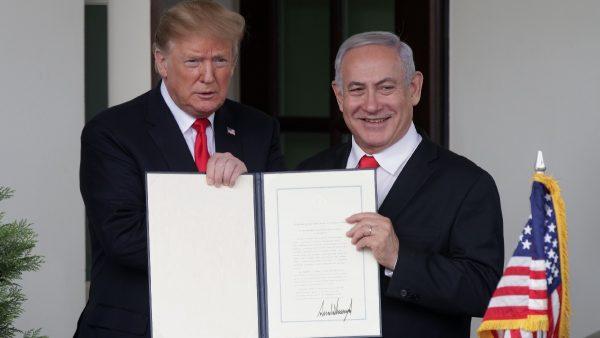 川普签公告 正式承认戈兰高地归属以色列