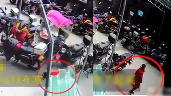 奇迹!重庆女童26楼坠下 落地后站起来走了(视频)