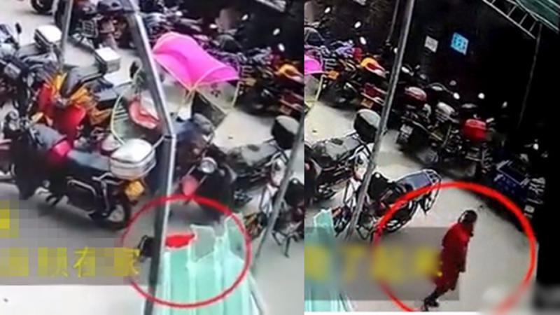 奇蹟!重慶女童26樓墜下 落地後站起來走了(視頻)