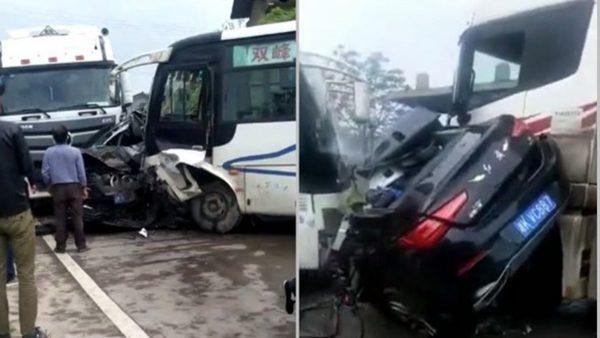 湖南重大車禍 1校長和2名教師當場死亡