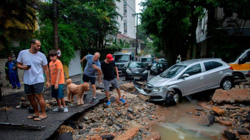 里約暴雨土石流肆虐 全市進入緊急狀態(視頻)